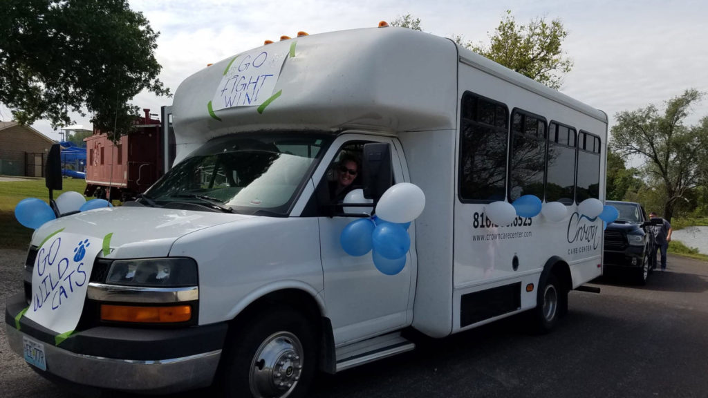 Recently, Crown Care Center, a Capital Health Management skilled nursing community located in Harrisonville, Missouri, showed off their hometown spirit in Harrisonville High School's homecoming parade.